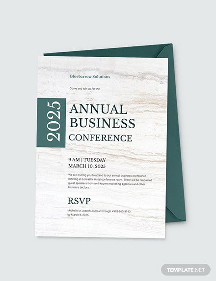 Business Conference Invitation Download