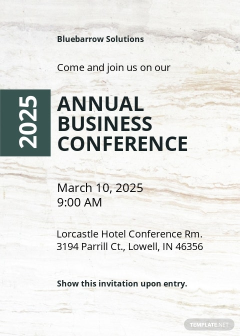 Business Conference Invitation Template