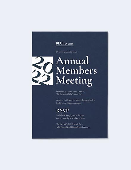 Sample Business Meeting Invitation