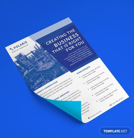 Free General Corporate Datasheet Template