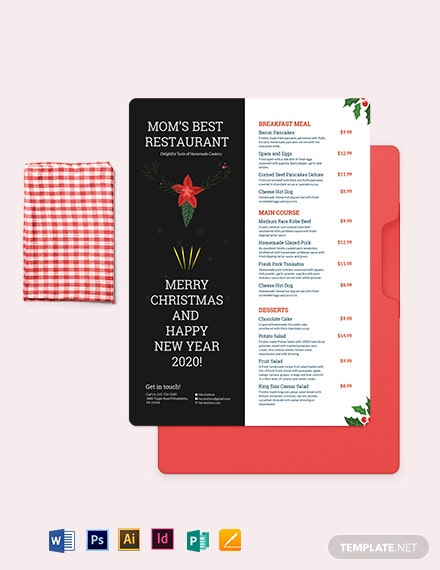 Holiday Menu Template