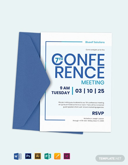 Conference Invitation Template