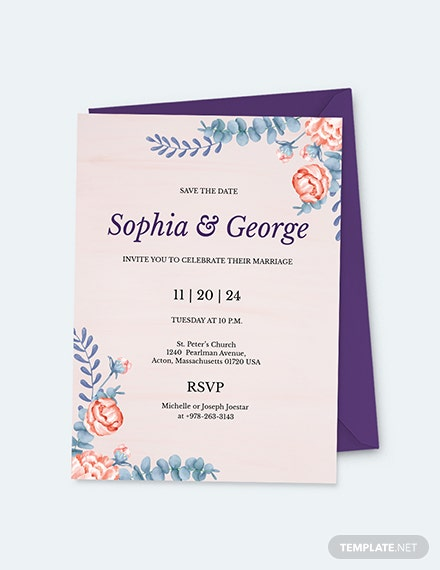 Elegant Traditional Wedding Invitation Download