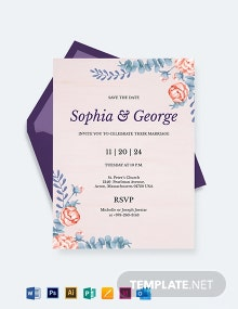 Elegant Traditional Wedding Invitation Template