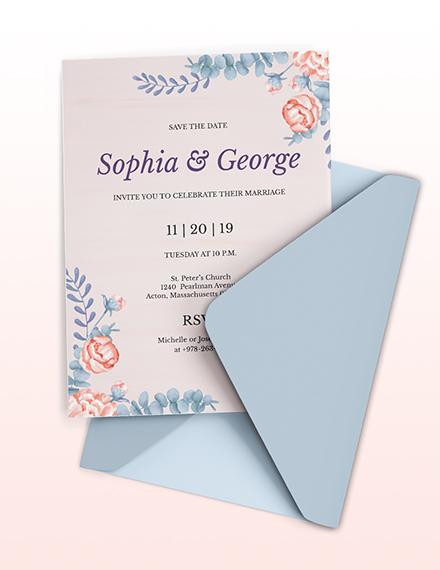 Elegant Traditional Wedding Invitation Template