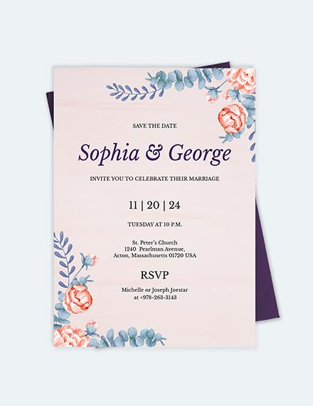 Sample Elegant Traditional Wedding Invitation