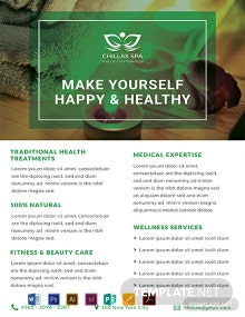 Free Health Spa Datasheet Template
