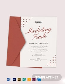 Formal Event Invitation Template