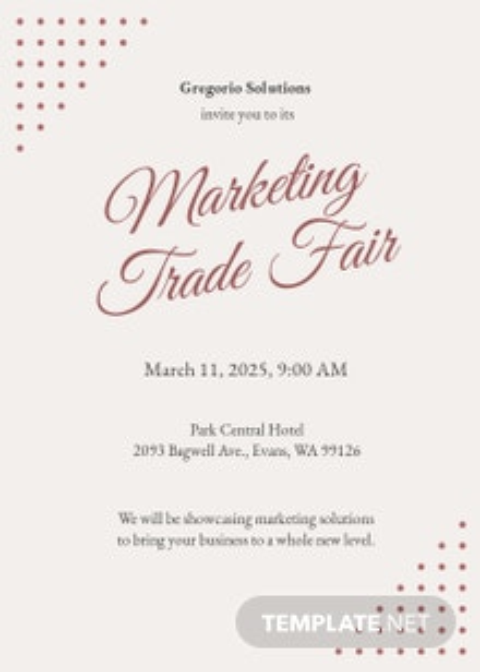 Formal Event Invitation Template