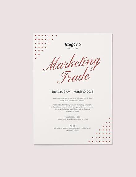 Formal Event Invitation Sample