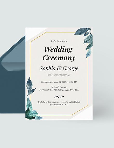 Formal Wedding Invitation Download