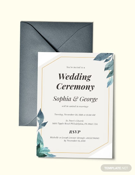 Formal Wedding Invitation Template