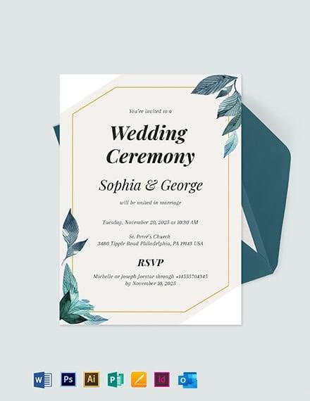 Formal Wedding Invitation Template