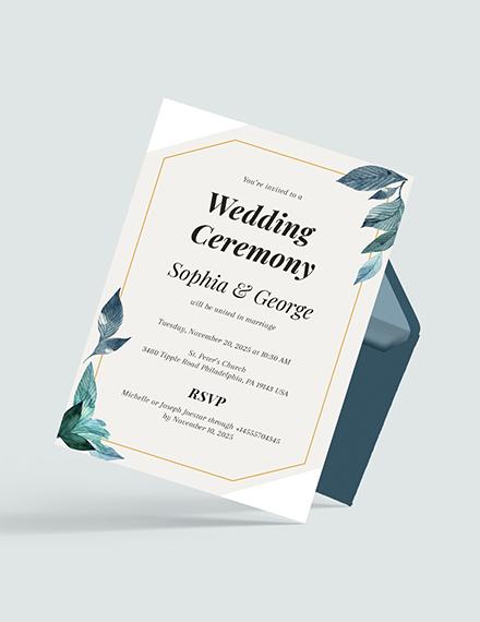 Sample Formal Wedding Invitation
