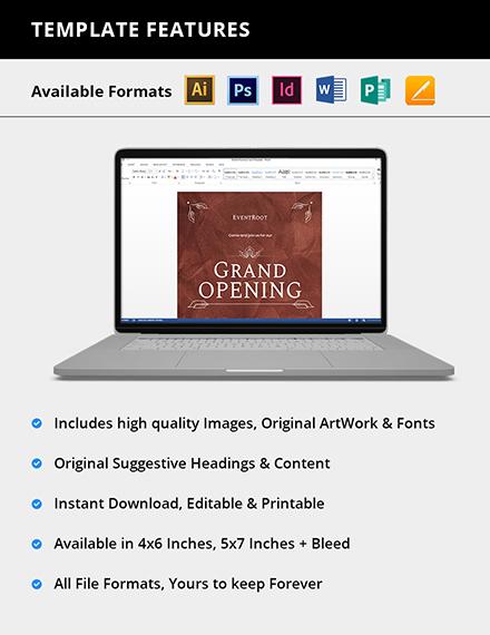 Editable Grand Opening Invitation