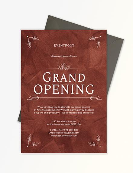 Sample Grand Opening Invitation