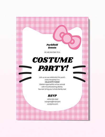 Hello Kitty Party Invitation Download