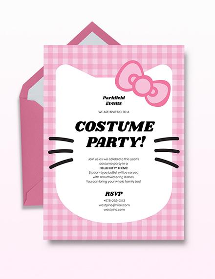Hello Kitty Party Invitation Template