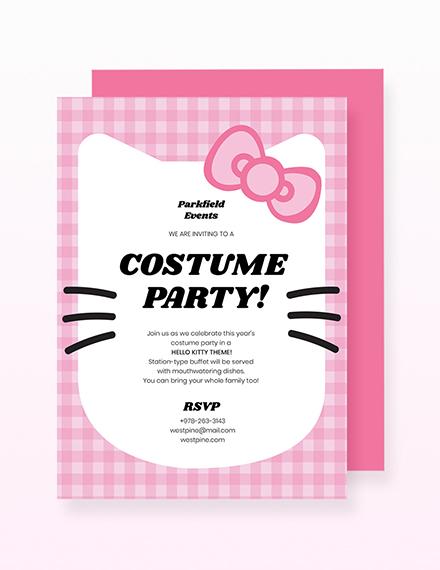 Sample Hello Kitty Party Invitation