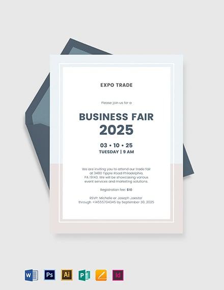 38 Free Business Invitation Templates Word Psd