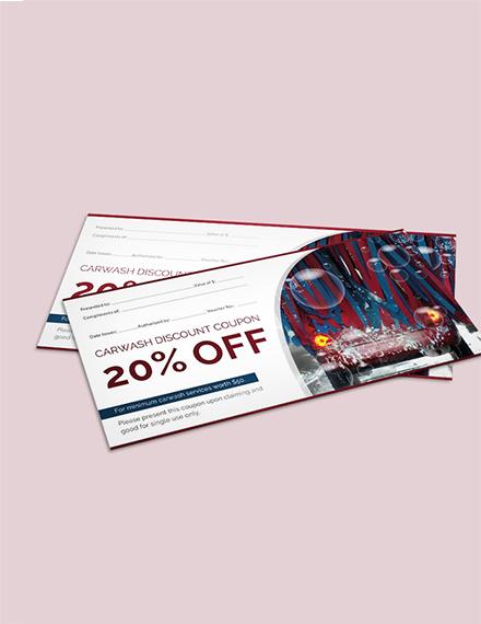 Free Car Wash Discount Voucher Template