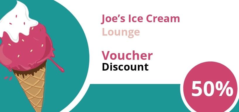 Ice Cream Shop Discount Voucher Template