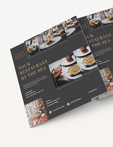 Fine Dining Restaurant Flyer Download