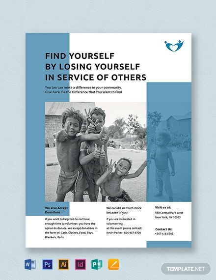 non profit flyer template 440x570 1