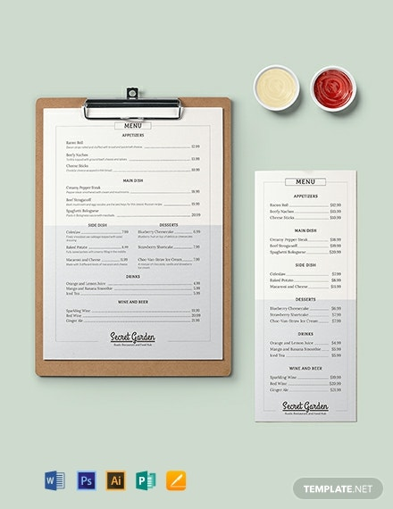 Rustic Menu Template