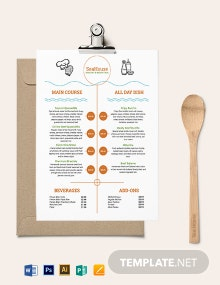 Food Price Menu Template