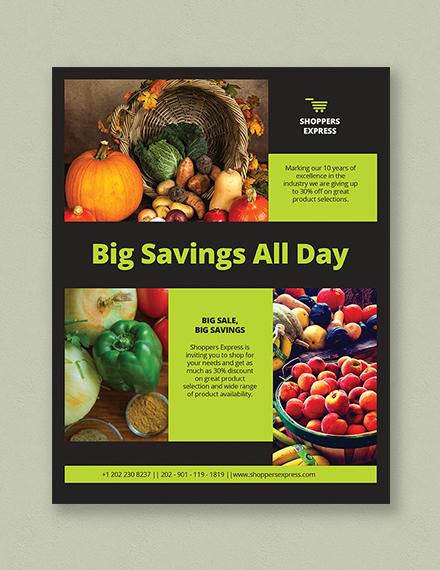 Supermarket Flyer Template