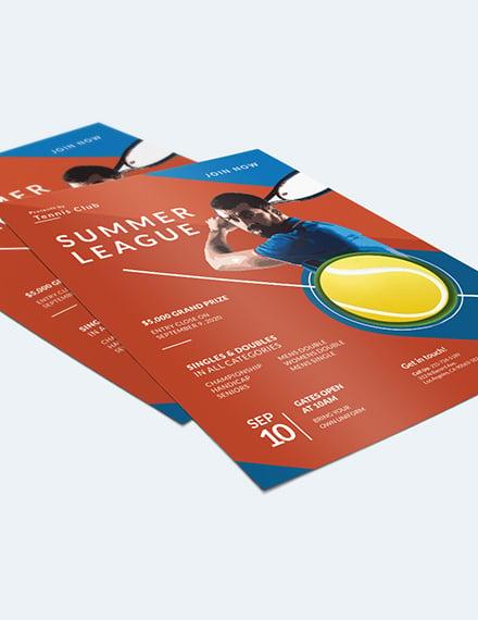 Sample Tennis Flyer