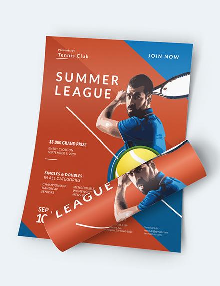 Tennis Flyer Download