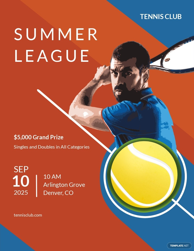 Tennis Flyer Template