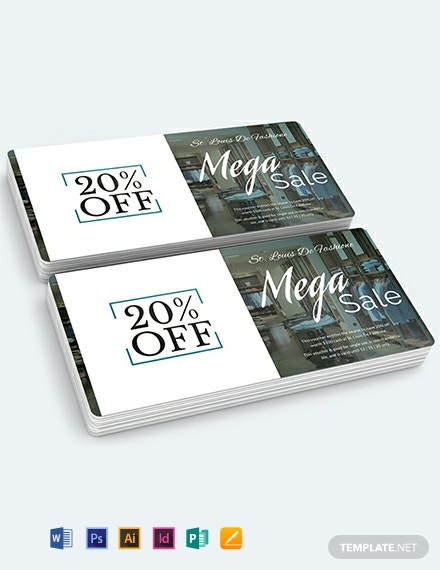 Free Sale Discount Voucher Template