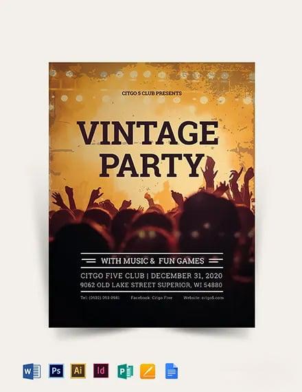 Vintage Flyer Template