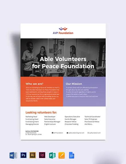 Volunteer Flyer Template