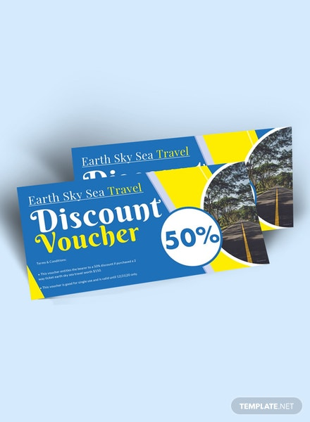 Free Travel and Trip Discount Voucher Template