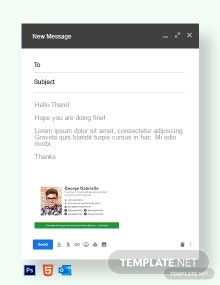Free Sample College Student Email Signature Template