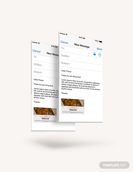 Sample Creative Email Signature