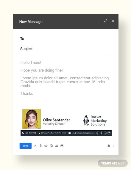Email Signature for Marketing Template