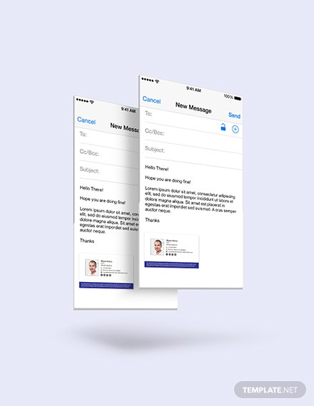 Sample Formal Email Signature