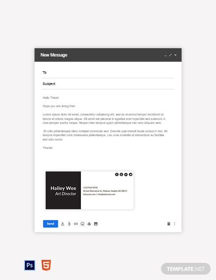 Minimalist Email Signature Template