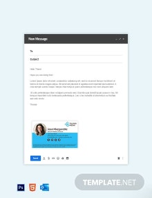 Social Media Email Signature Template