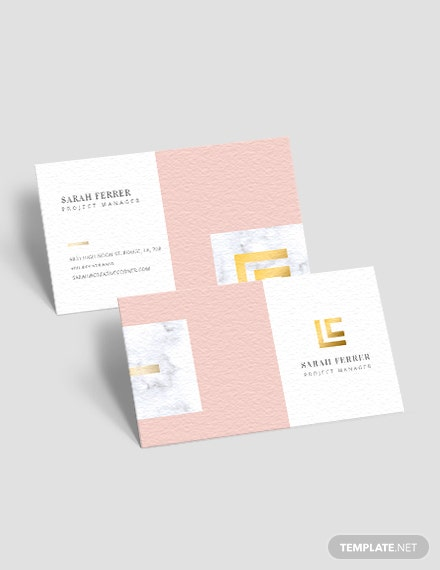 Project Manager Business Card Download