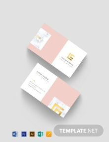 Project Manager Business Card Template