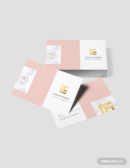 Sample Project Manager Business Card