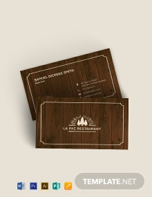 Rustic Business Card Template