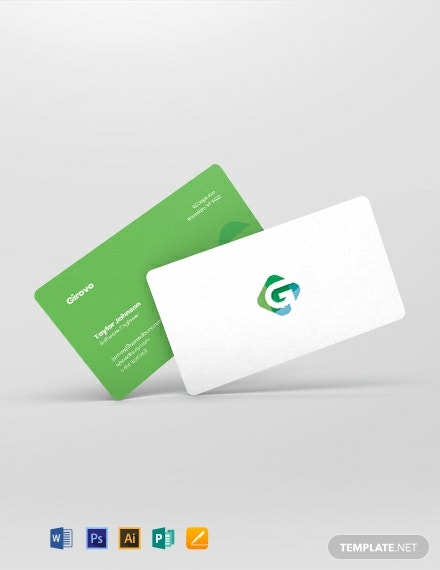 Software Engineer Business Card Template
