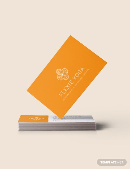 Yoga Instructor Business Card Download